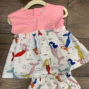 Hanna Andersson Mermaid Dress Baby girl